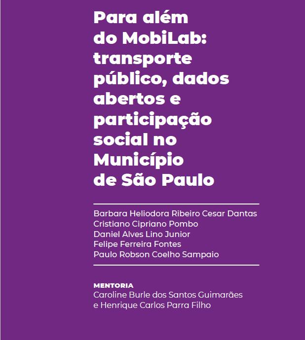 Para além do MobiLab: transporte público, dados abertos e participação social no Município de São Paulo