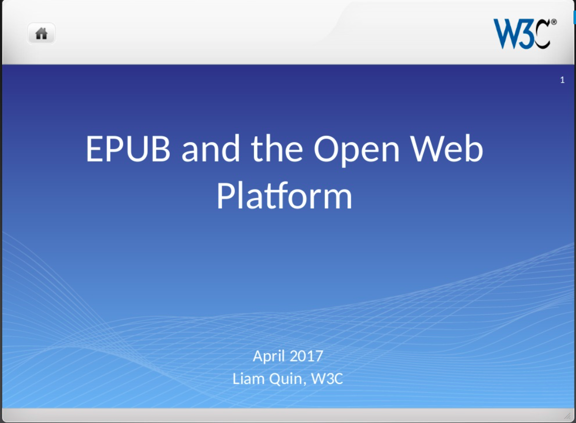 Epub and the Open Web Platform