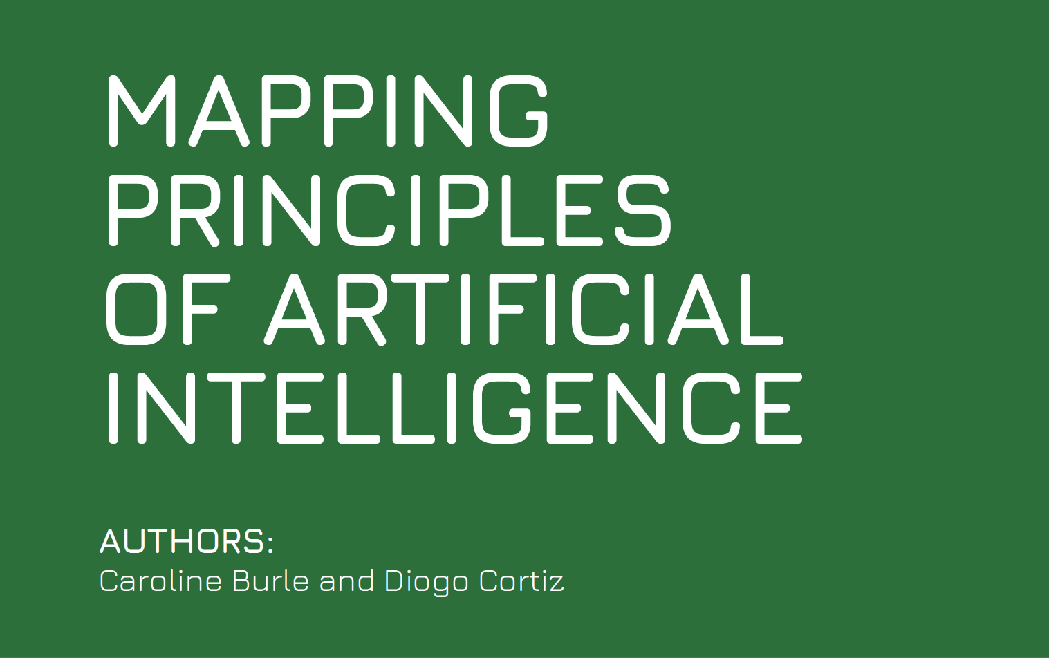 Mapping Principles of Artificial Intelligence